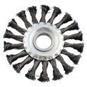 Щётка для УШМ кольцевая115*22мм пучки проволки INTERTOOL BT-7115