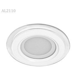 Светильник LED 25W 5000K круг со стеклом 1875Lm 240*40мм  AL2110 FERON