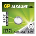Батарейка в часы GP 177-U10 AG4 Alkaline, LR626