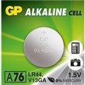 Батарейка в часы GP A76-U AG13 Alkaline, LR44