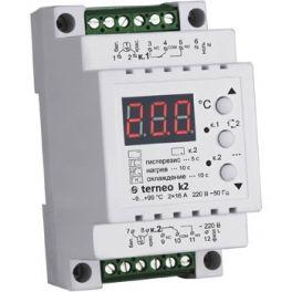 Терморегулятор Terneo K2 для теплого пола (2-х канальный, режим нагрев/охлаждение)