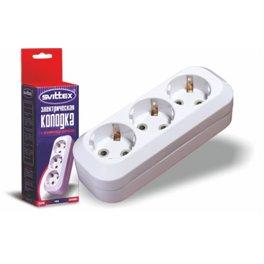 Колодка для удлинителя SVITTEX 3 гнезда с заземлением