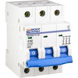 Автоматический выключатель 3p 32 А (тип С) ВА-2017 Аско