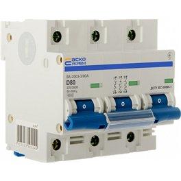 Автоматический выключатель 3p 80 А (тип D ВА-2003 Аско