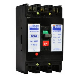 Автоматический выключатель 3p 63 А ВА-2004N/63 Аско
