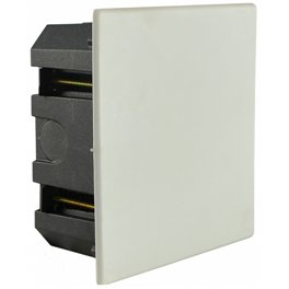 Распределительная коробка Аско 130х130х55мм внутренняя с крышкой, гипсокартон