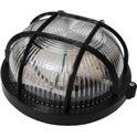 Светильник светодиодный Круг черный прозрачный пластиковый плафон с решеткой ПП-1052-10-1/6 Е27