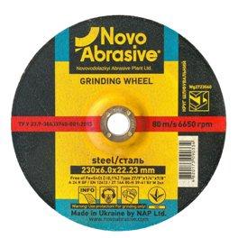 Диск шлифовальный по металлу NOVOABRASIVE T27 230*6,0*22,23мм A 24 R BF