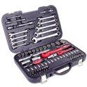 Набор инструментов 1/4 и 1/2 82ед 4-32мм CrV PROF Intertool ET-6082