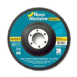 Круг лепестковый Novoabrasive 125*22.23мм P36 T27