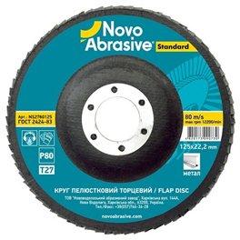 Круг лепестковый Novoabrasive 125*22.23мм P80 T27
