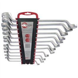 Ключи накидные Intertool 6-32мм 12шт CrV HT-1103