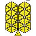 """Знак """"Опасность поражения электрическим током"""" 80 мм (на листе 29 шт)"""