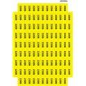 "Знак ""220 В"" желтый 45х22  (на листе 113 шт)"