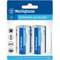 Щелочная Батарейка Westinghouse Dynamo Alkaline C/LR14 (2шт/уп)
