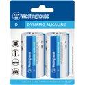 Щелочная батарейка Westinghouse Dynamo Alkaline D/LR20 (2шт/уп)