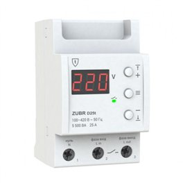 Захист від перенапихання ZUBR D25t 25 A (макс. 30 А), 5500 VA з термозахистом