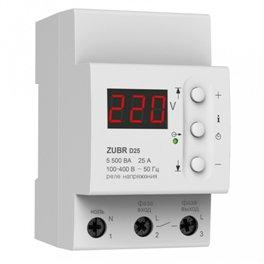 Реле защита от перенапряжения ZUBR D25 25 А (max 30 А), 5 500 ВА