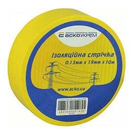 Изолента ПВХ 10м желтая АСКО