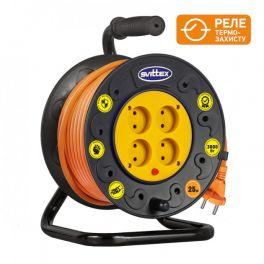 Удлинитель на катушке SVITTEX 25м с кабелем 2х1,5