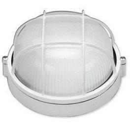 311 Светильник 60W IP-54 круглый с решёткой белый MAGNUM MIF 012