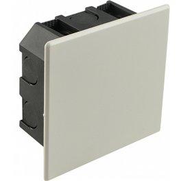 Розподільна коробка Аско 85х85х45мм внутрішня з кришкою, гіпсокартон