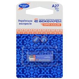 Батарейка луженая АСКО A27, MN27, ВР1 (blister 1)