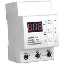Реле защита от перенапряжения ZUBR D32 32 А (max 40 А), 7 000 ВА