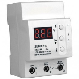 Реле защита от перенапряжения ZUBR D16 (16 А (max 20 А), 3 500 ВА