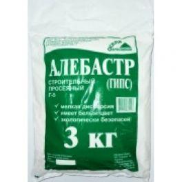 Алебастр (гипс строительный) 3кг