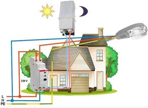 фотореле, подключение датчика движения, подключить датчик движения, схема подключения датчика движения, подключение датчика движения сигнализации